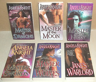 Nice Lot Of 6 Books By Angela Knight Master Of Dragons Dragons Night Swords Wolv