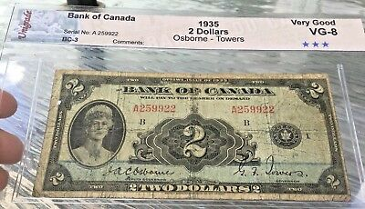 Bank of canada 1935 2$ Queen Mary