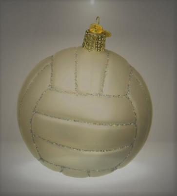 Old World Christmas Volleyball Glass Blown Ornament