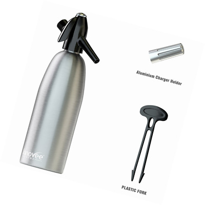 Innovee Soda Siphon – Ultimate Soda Maker – Aluminum – 1 Liter – With Free Cockt