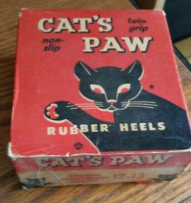 """Vintage """"Cat's Paw"""" Rubber Heels - Box Only"""