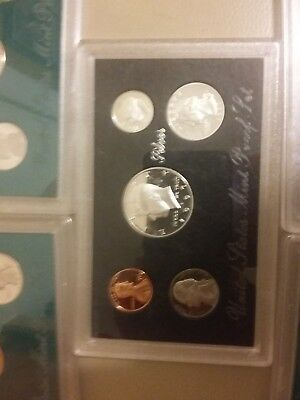 United States Mint Proof Set Coin (5) lot silver (s) 1997 1998 Kennedy **CHEAP**