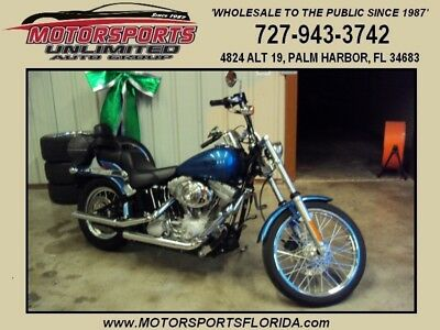 2005 Harley-Davidson Softail  FXSTI! 1-Owner! Garage-Kept! Chopper Blue! Pampered! V&H Pipes! Fuelpak! 9k Mi!