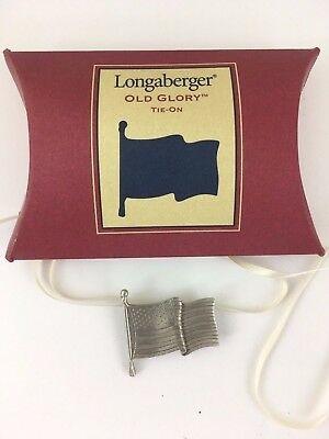 Longaberger All American Old Glory Tie On TO
