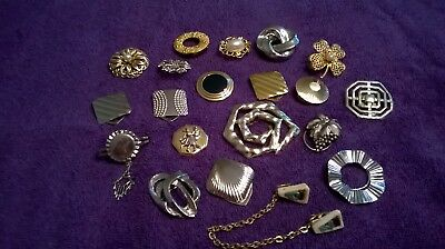 Large Lot Of Scarf Clips   Beautiful Jewelry Scarf Accessories