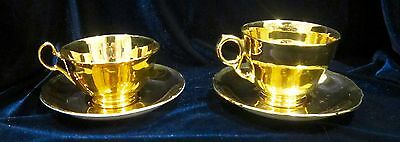 Vintage Royal Winton Grimwades Golden Age Cups and Saucers - Set of 2 - England