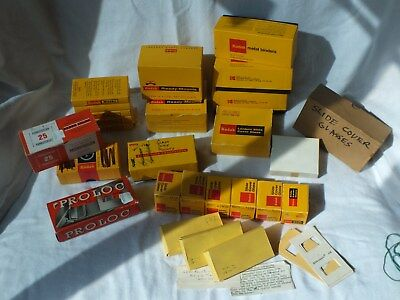 Big lot of various Kodak Slide Mounts - Glass, Paper, Rapid slide faster, etc