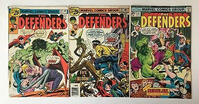 Lot Of Old Marvel Comics The Defenders