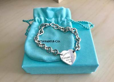 "Tiffany & Co RETURN TO TIFFANY™ 7"" Heart Tag Bracelet (RRP $510)"