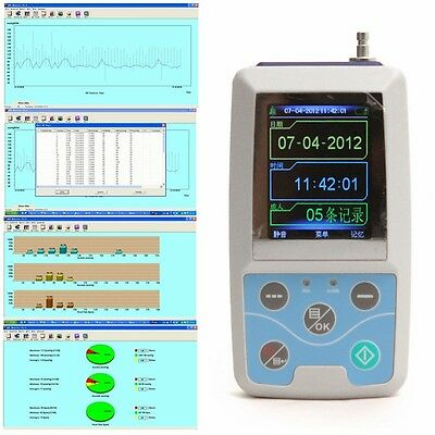 Ambulatory Blood Pressure Patient Monitor +Free PC Software Contec+3Cuffs [USPS]
