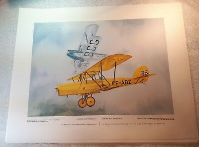 "Vintage Aviation Art R.W. Bradford Curtiss-Reid Rambler III King's Cup 16""x20"""