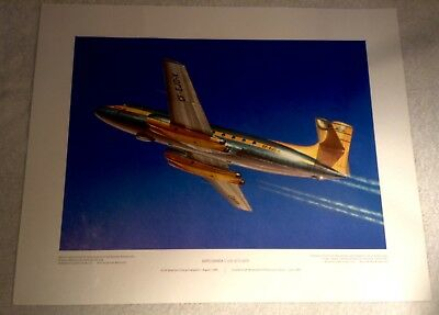 "Vintage Aviation Art R.W. Bradford Avro Canada C-102 Jetliner 16""x20"""