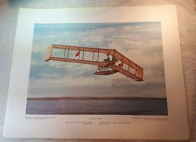 "Vintage Aviation Art R.W. Bradford Burgess-Dunne RCAF RAF 16""x20"""