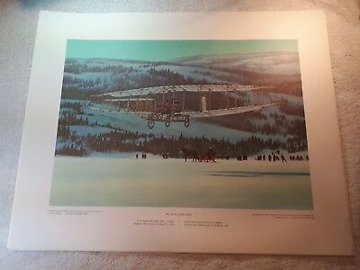 "Vintage Aviation Art R.W. Bradford A.E.A Silver Dart First Powered 16""x20"""
