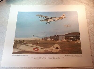 "Vintage Aviation Art R.W. Bradford Curtiss JN-4 Jenny 16""x20"""