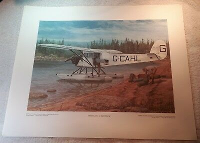 "Vintage Aviation Art R.W. Bradford Fairchild FC-2 ""Razorback"" Bush Pilot 16""x20"""