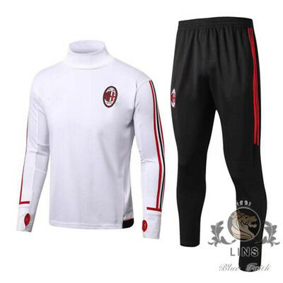 17/18 AC Milan 1899 ACM white European Cup football training wear Europe size.