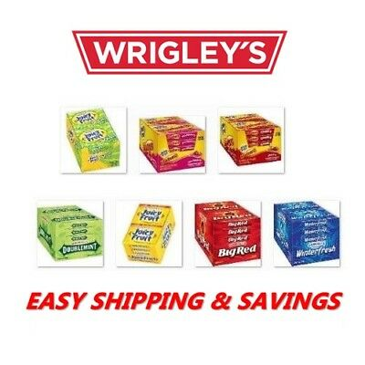 Wrigley Chewing Flavored Gum 10 Pack Many Options Juicy Fruit Big Red Free Ship