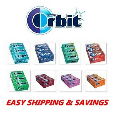 Orbit Gum By Wrigley's Mint Fresh 12 Pack Many Options + Free World Shipping