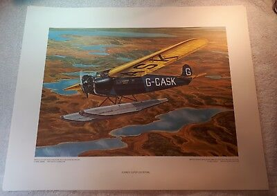 "Vintage Aviation Art R.W. Bradford Fokker Super-Universal Bush Pilot 16""x20"""