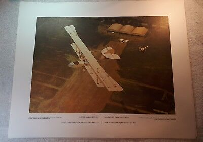 "Vintage Aviation Art R.W. Bradford RCAF Curtiss Canada Bomber 16""x20"""