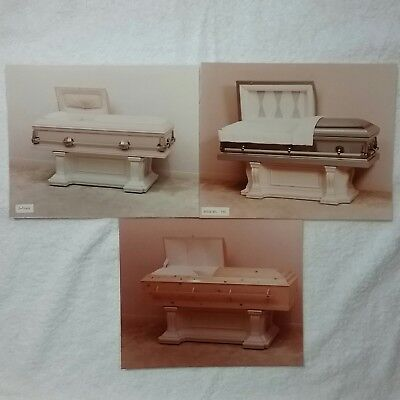 Vintage Casket Display Photos and Negatives Embalming Mortician Funeral Death