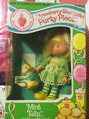 Strawberry Shortcake Vintage Mint Tulip Party Pleaser With Pet--rare