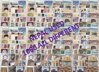 Nepal Stamp Collection - 1000 Different Used Off Paper