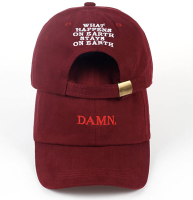 Kendrick Lamar Tour Cap DAMN Dad Hat Hip Hop Rap Red