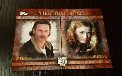 Topps The Walking Dead Season 6 TIES THAT BIND F-6 RICK - JESSIE 07/99 RUST RARE