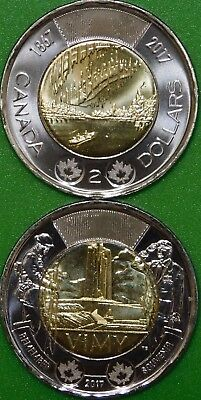 2017 Canada 150th and Battle Vimy Ridge Toonies Graded as Brilliant Uncirculated