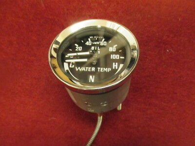 MG MGB Midget Sprite Lotus Oil/water temp dual gauge C-N-H