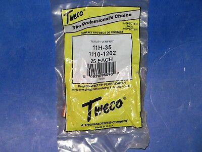 Tweco  Thermadyne  11H-35  1110-1202  25  Each  Mig  Welding  Contact  Tips