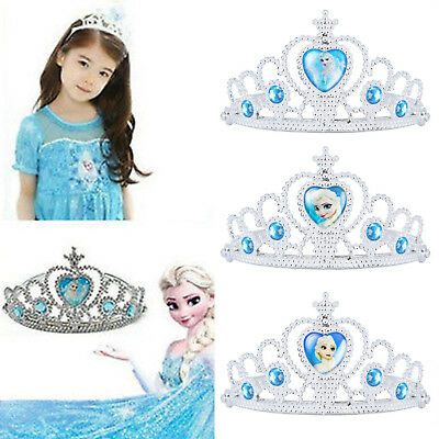 Disney Frozen Elsa Anna Cosplay Costume Halloween Silver Crown Tiara Toy Fairy