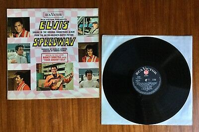 ELVIS 'Speedway' RCA Victor SF 7957black label red spot LP Vinyl record