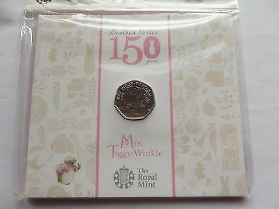 Royal Mint Mrs Tiggy-Winkle Presentation Pack  50p Coin - 150th Anniversary