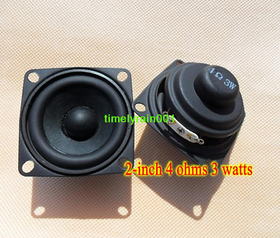 "2pcs 2"" inch full-range stereo speakers Column Loudspeaker PU edge 4ohms 3watts"