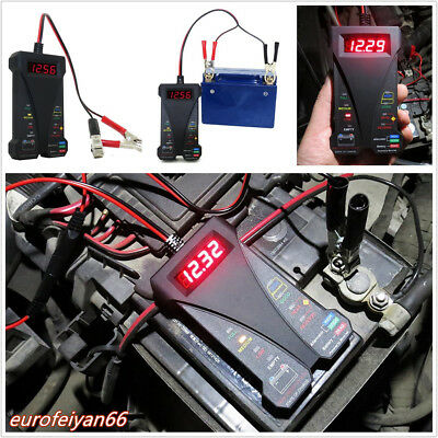 Car Profession LED Digital Battery Tester Voltmeter Charger System Analyzer Tool