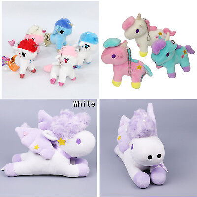 Lovely Unicorn Doll Keychain Plush Toy Accessories Key Ring Bag Best Girls Gift