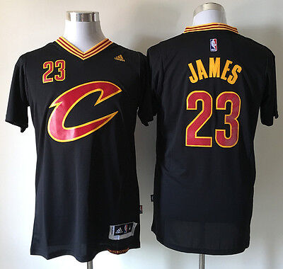 NBA Lebron James #23 Cleveland Cavaliers Swingman Adidas New Jersey Black/Gold *