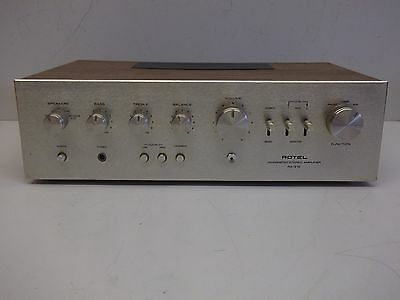 Rare Vintage Rotel Ra-312 Integrated Stereo Amplifier - Good Condition