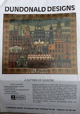 Dundonald Designs, tapestry pattern and colour chart - A Pattern of Glasgow
