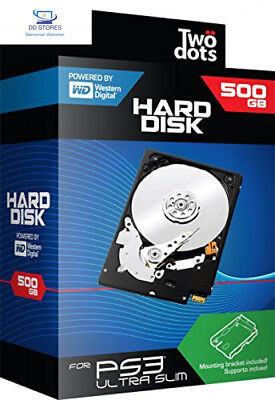 TWO DOTS HDD 500GB con supporto PS3
