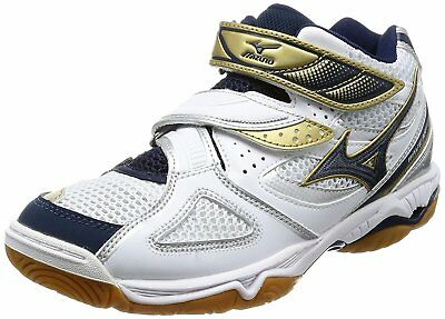 Mizuno Women's Volleyball Shoes WAVE ARTEMIS 3 MID V1GC1558 White / Navy / Gold