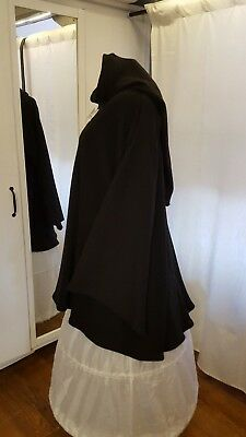 Mittelalter Kleid LARP Gr.52 54 56 Gothic XXL  Winter Sweat  schwarz Tunika