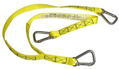 navyline 3 Point Lifeline with Robust Strap and Angled Carabiners