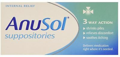 Anusol Suppositories Haemmorhoid Piles Treatment 3 Way Action Soothing