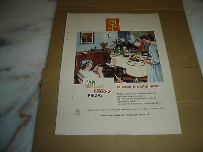 """1963 old portuguese advertising PHILIPS argenta lamps """"there is nothing better!"""""""