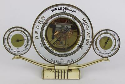 ART DECO WEATHER STATION by LUFFT barometer, hygrometer & themometer RARE WHITE