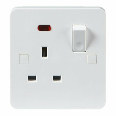 Knightsbridge Screwless 13 A 2 G DP Switched Socket-Noir Insert